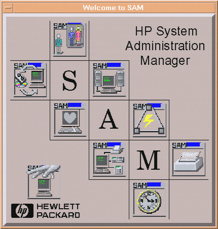 HP-UX SAM splash screen