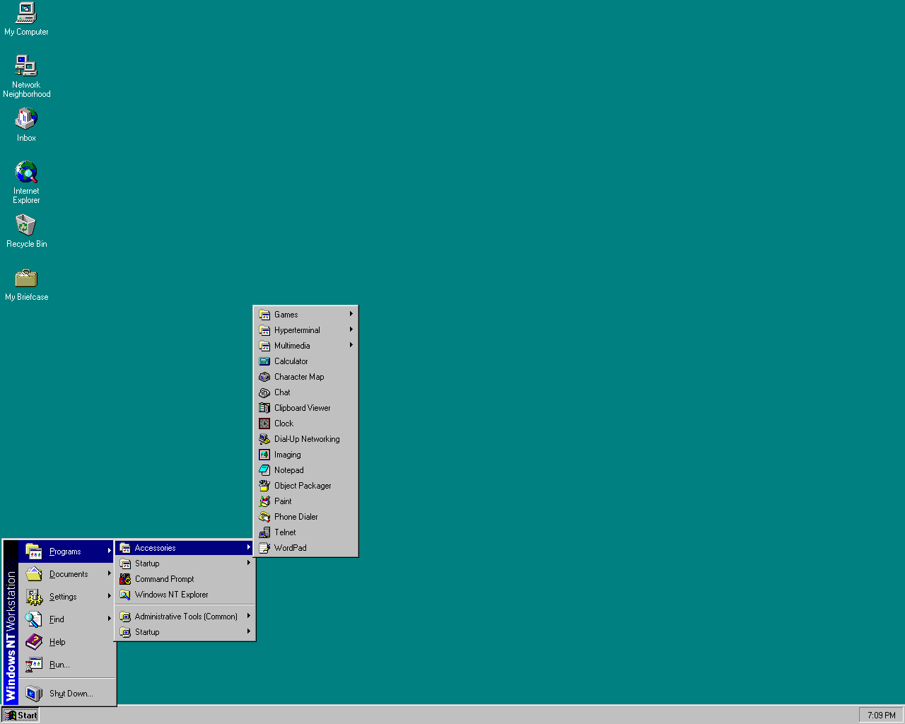 default windows nt 4.0 desktop
